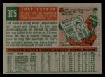 1959 Topps #305  Curt Raydon  Back Thumbnail
