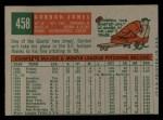 1959 Topps #458   Gordon Jones Back Thumbnail