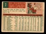 1959 #7  Al Pilarcik  Back Thumbnail