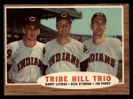 1962 Topps #37  Tribe Hill Trio  -  Jim Perry / Dick Stigman / Barry Latman Front Thumbnail