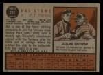 1962 Topps #291  Hal Stowe  Back Thumbnail