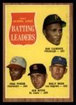 1962 Topps #52  1961 NL Batting Leaders  -  Roberto Clemente / Vada Pinson / Ken Boyer / Wally Moon Front Thumbnail
