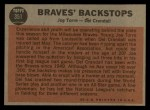 1962 Topps #351  Braves' Backstops  -  Joe Torre / Del Crandall Back Thumbnail