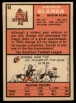 1966 Topps #48  George Blanda  Back Thumbnail