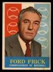 1959 Topps #1  Commissioner of Baseball  -  Ford Frick Front Thumbnail
