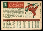 1959 Topps #15   Dick Drott Back Thumbnail