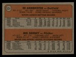 1972 Topps #524  Reds Rookies    -  Ed Ambrister / Mel Behney Back Thumbnail