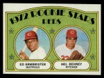 1972 Topps #524  Reds Rookies    -  Ed Ambrister / Mel Behney Front Thumbnail