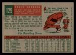 1959 Topps #129  Rookie Stars  -  Frank Herrera Back Thumbnail