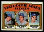 1972 Topps #198   Dodgers Rookie Stars    -  Charlie Hough / Bob O'Brien / Mike Strahler Front Thumbnail
