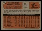 1972 Topps #331  Stan Swanson  Back Thumbnail