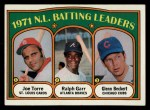 1972 Topps #85  NL Batting Leaders    -  Glenn Beckert / Ralph Garr / Joe Torre Front Thumbnail