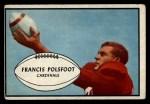 1953 Bowman #7  Francis Polsfoot  Front Thumbnail