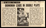 1964 Topps Giants #27  Eddie Brinkman   Back Thumbnail