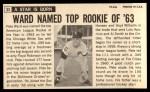 1964 Topps Giants #33  Pete Ward   Back Thumbnail