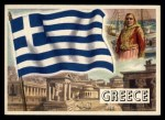 1956 Topps Flags of the World #13  Greece  Front Thumbnail