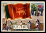 1956 Topps Flags of the World #5  Ceylon  Front Thumbnail