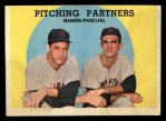 1959 Topps #291  Pitching Partners  -  Pedro Ramos / Camilo Pascual Front Thumbnail