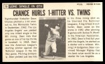 1964 Topps Giants #16   Dean Chance  Back Thumbnail