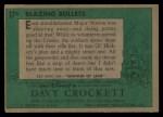 1956 Topps Davy Crockett #17 GRN  Blazing Bullets  Back Thumbnail