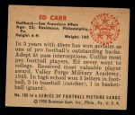 1950 Bowman #106  Ed Carr  Back Thumbnail
