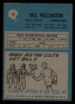1964 Philadelphia #9  Bill Pellington   Back Thumbnail