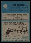 1964 Philadelphia #67   Pat Studstill Back Thumbnail