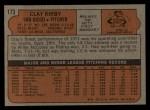 1972 Topps #173   Clay Kirby Back Thumbnail