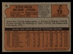 1972 Topps #78   Steve Arlin Back Thumbnail