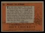 1956 Topps Davy Crockett #10 ORG Ready to Strike   Back Thumbnail