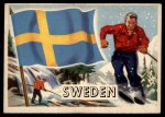 1956 Topps Flags of the World #65  Sweden  Front Thumbnail