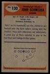 1955 Bowman #130  John Schweder  Back Thumbnail