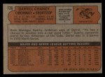 1972 Topps #136   Darrel Chaney Back Thumbnail