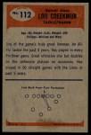 1955 Bowman #112   Lou Creekmur Back Thumbnail
