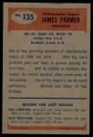 1955 Bowman #135   James Parmer Back Thumbnail