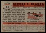 1956 Topps #11  George Blanda  Back Thumbnail