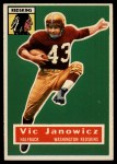 1956 Topps #13   Vic Janowicz Front Thumbnail