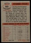1956 Topps #63  Steelers Team  Back Thumbnail