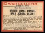1965 Philadelphia War Bulletin #16  Fox on the Run  -    Back Thumbnail