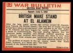 1965 Philadelphia War Bulletin #12  Desert Danger  Back Thumbnail
