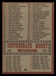 1962 Topps Civil War News #88  Checklist  Back Thumbnail
