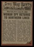 1962 Topps Civil War News #50   Stolen Secrets Back Thumbnail