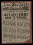 1962 Topps Civil War News #47  Death Battle  Back Thumbnail
