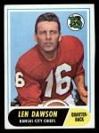 1968 Topps #171  Len Dawson  Front Thumbnail