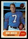 1968 Topps #123   Mike Mercer Front Thumbnail
