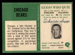 1966 Philadelphia #27  Bears Team  Back Thumbnail