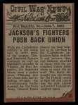 1962 Topps Civil War News #21  Painful Death  Back Thumbnail