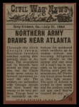 1962 Topps Civil War News #73   Through the Swamp Back Thumbnail