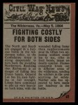 1962 Topps Civil War News #61   The Flaming Forest Back Thumbnail
