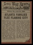 1962 Topps Civil War News #75   The Family Flees Back Thumbnail